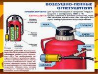 Как пользоваться пенным огнетушителем