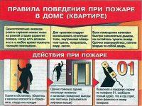 Правила безопасности при пожаре в квартире