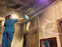 Как отмыть стены после пожара