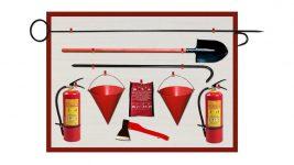 Пожарный щит и противопожарный инвентарь